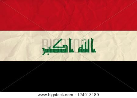Vector image of the Iraq  paper flag