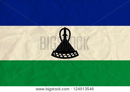 Vector image of the Lesotho  paper flag