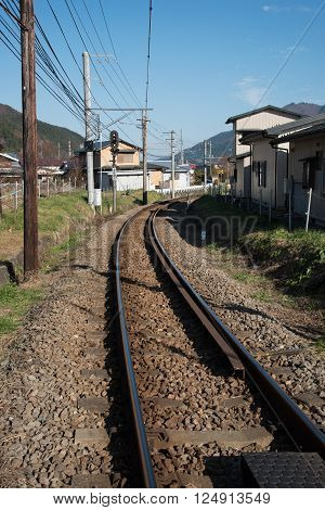 closed up the railroad track in Japan