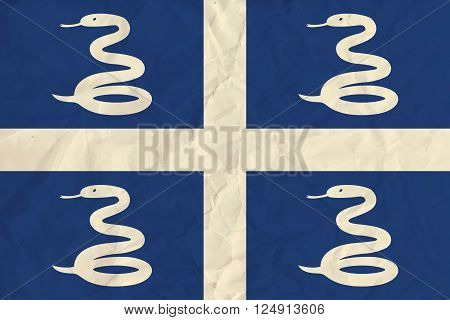 Vector image of the Martinique  paper flag
