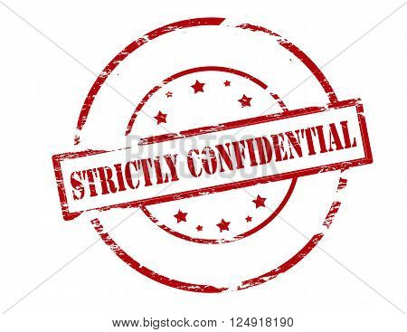 Rubber stamp with text strictly confidential inside vector illustration