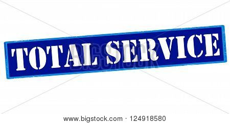 Rubber stamp with text total service inside vector illustration