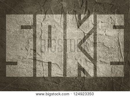 Drink alcohol beverage. Sake word lettering. Concrete textured