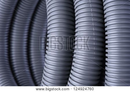 Corrugated pipe for installation of electrical cable