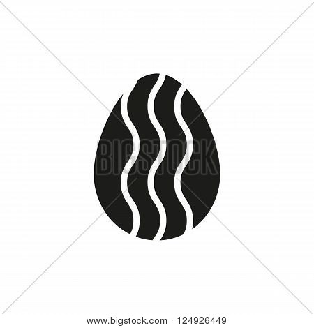 The egg icon. Easter symbol. UI. Web. Logo. Sign. Flat design. App. Stock vector