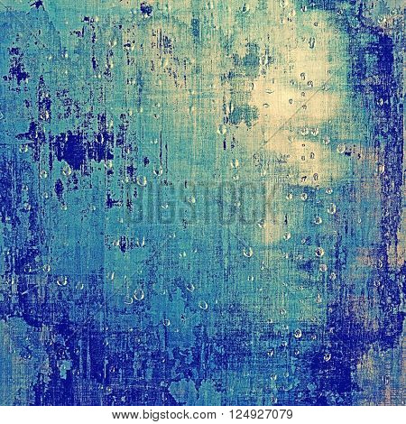 Oldest vintage background in grunge style. Ancient texture with different color patterns: blue; white; cyan