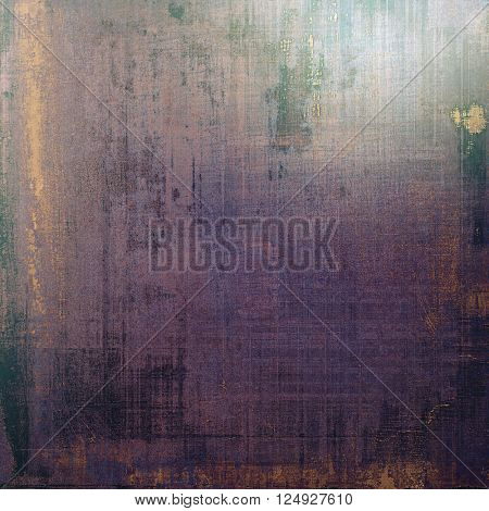 Vintage background in scrap-booking style, faded grunge texture with different color patterns: brown; blue; purple (violet); black; gray