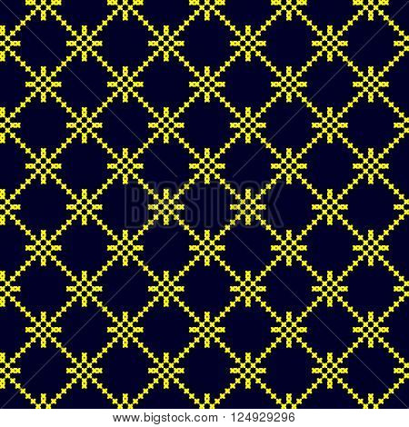 golden seamless pattern. embroidered good like old handmade cross-stitch ethnic Ukraine pattern