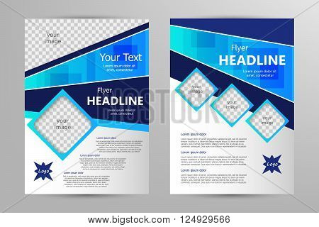 Vector flyer template design. For business brochure leaflet or magazine cover