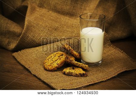 Cookies On A Rustic Background