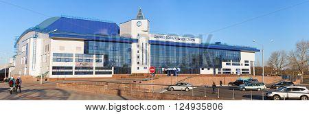 Gomel, Belarus - March 28, 2016: Palace Of Water Sports In Gomel, Belarus. Built In 2009-2013