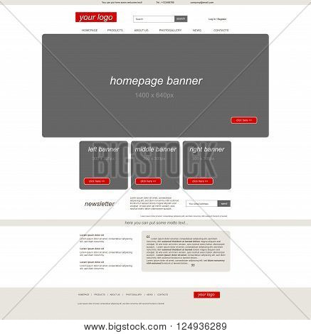 website eshop template with business style for business or non profit organization organization