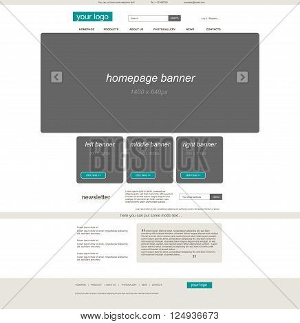 website eshop template for business or non profit organization organization