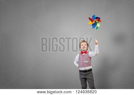 Happy careless child
