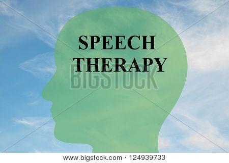 Speech Therapy Brain Concept