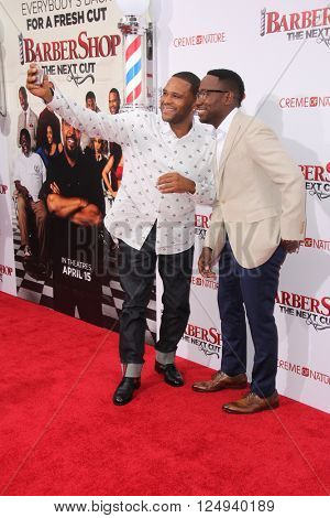 LOS ANGELES - APR 6:  Anthony Anderson, Lamorne Morris at the Barbershop - The Next Cut Premiere at the TCL Chinese Theater on April 6, 2016 in Los Angeles, CA