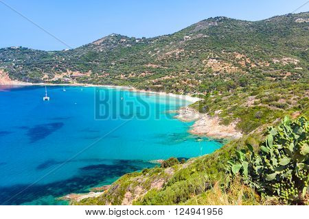 Summer landscape of South Corsica, Piana region, France
