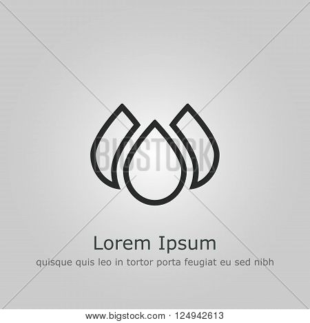Ecology Drops Icon In Vector Format. Premium Quality Ecology Drops. Web Graphic Ecology Drops Sign On Grey Background.