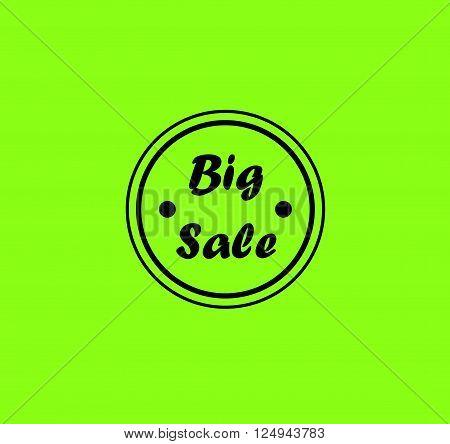 Modern badge - Black Big Sale Badge