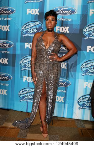 LOS ANGELES - APR 7:  Fantasia Barrino at the American Idol FINALE Arrivals at the Dolby Theater on April 7, 2016 in Los Angeles, CA