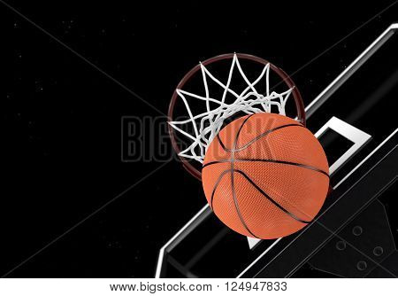 The basketball is the number of passes through the net
