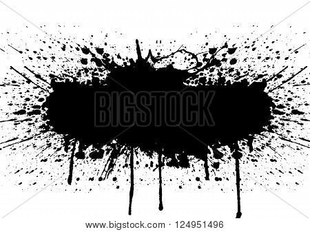 Vector splatter black color background. illustration vector design