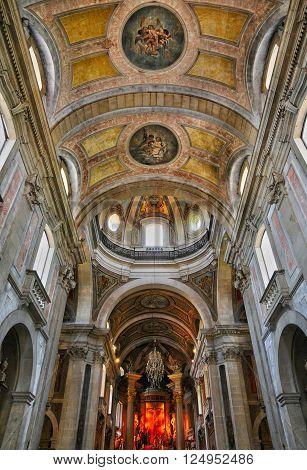 Braga Portugal - july 12 2010 : the baroque sanctuary of Bom Jesus do Monte