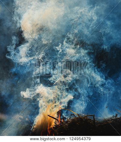 Abstract smoke on a dark background. Background