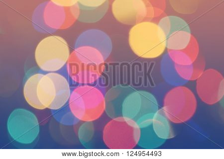 Bokeh Colorful Lights Background Retro 3