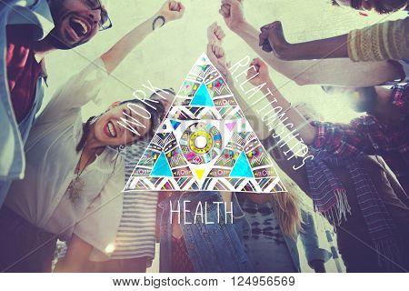 Work Relationships Health Balance Equal Stable Concept