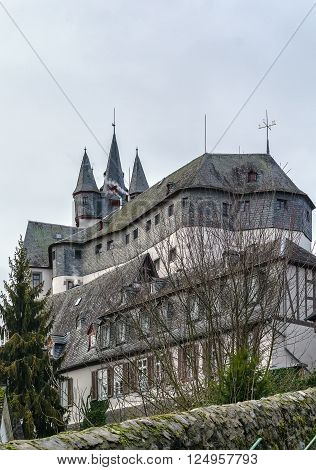 Diez castle from the Late Middle Age is a castle built on a hill above Diez Germany