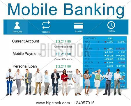 Mobile Banking Financial Accounting Electronic Concept