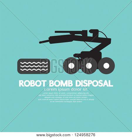 Robot Bomb Disposal Vector Illustration. EPS 10
