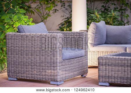 Comfortable Fashionable Rattan Armchair