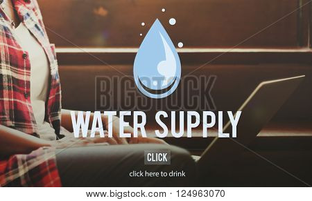 Water Supply Nature Irrigation Irrigating Plant Concept
