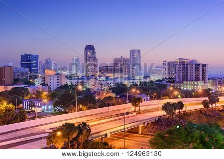 St. Petersburg, Florida, USA downtown skyline.