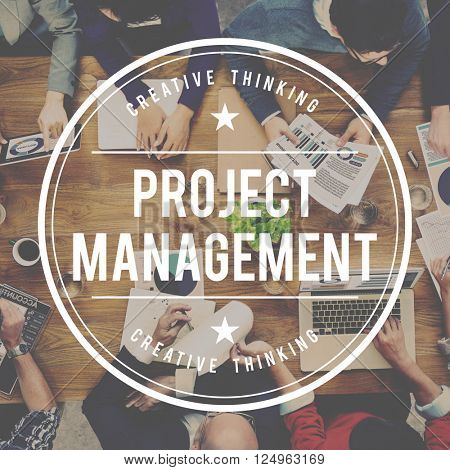 Project Management Strategy Coordination Business Concept