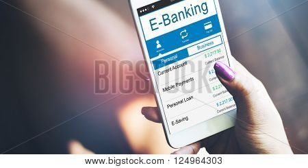 E-Banking Bank Banking Credit Card Finance Money Concept
