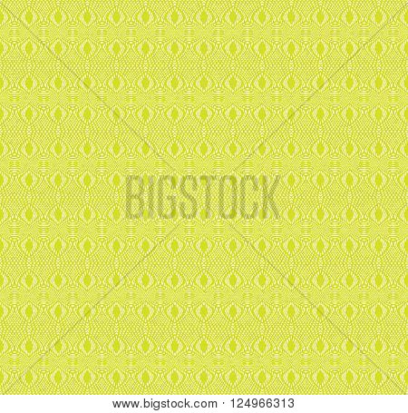 Tangier grid. Seamless green guilloche pattern. Protect documents certificates bank notes certificates
