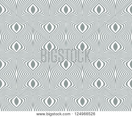 Tangier grid. Seamless gray monochrome guilloche pattern. Protect documents certificates bank notes certificates web