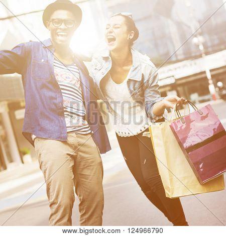 Shopping Buyer Fun Consumer Spend Leisure Concept