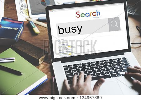 Busy Working Overload Occupied Multitasking Hard Work Concept