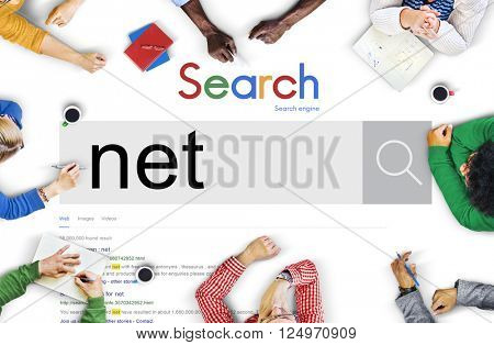 Net Accounting Earning Bookkeeping Online Concept
