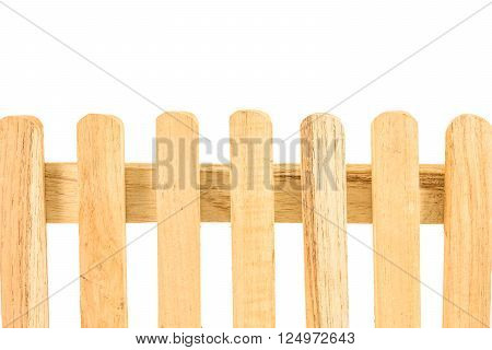 a wooden fence isolated on white background
