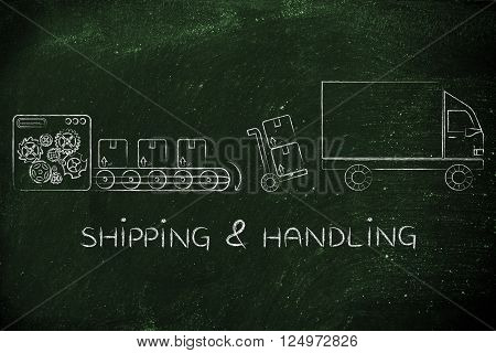 Factory, Parcels & Delivery Truck: Shipping & Handling