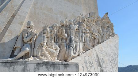 Monument to the Discoveries  - the  west side, Lisbon Portugal