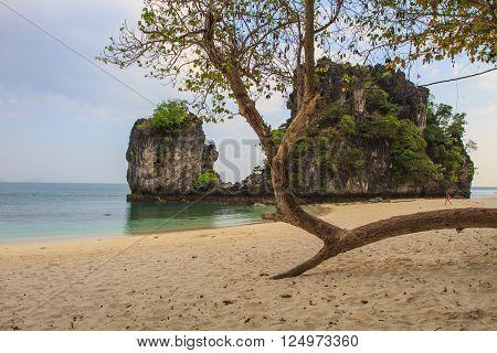 View of koh hong island krabi,Thailand, Tropical beach scenery