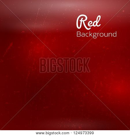 Abstract red background with sky stars and cosmic rays. Vector illustration.