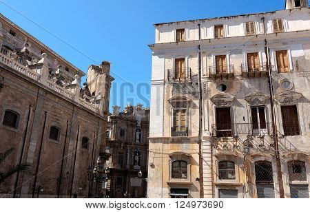 Buildings in the City of Palermo Sicily