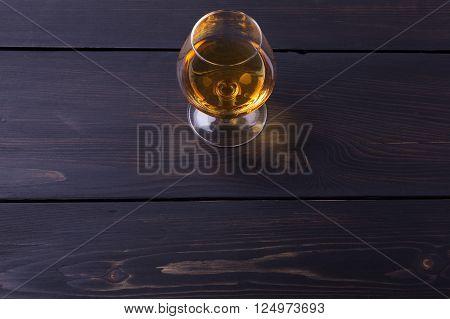 Brandy On Dark Wood